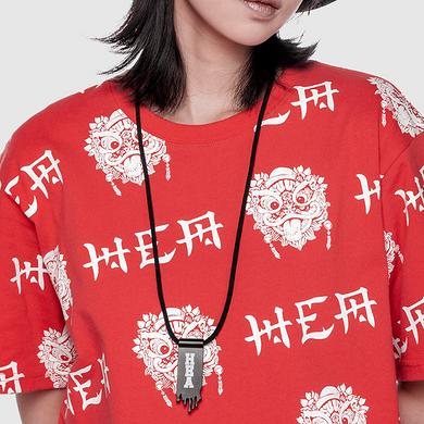 潮牌原创中国风醒狮元素钱夹造型项链
