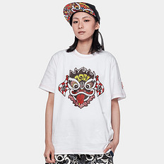 HEA潮牌原创中国风醒狮元素印花男女同款短袖T恤