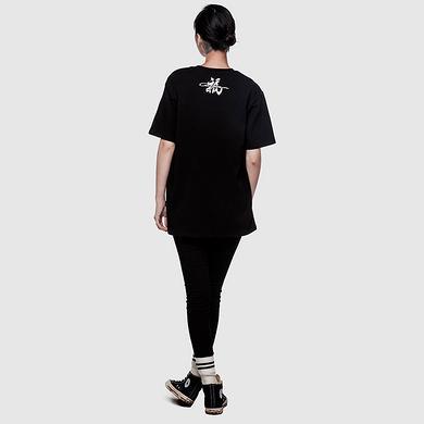 潮牌原创设计鲤鱼印花短袖T恤