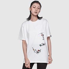 银鳞堂潮牌原创设计鲤鱼印花短袖T恤