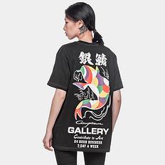银鳞堂潮牌原创中国风彩色鲤鱼印花男女同款短袖T恤