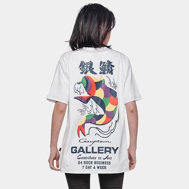 【5折特惠】潮牌原创中国风彩色鲤鱼印花男女同款短袖T恤
