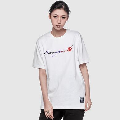 潮牌原创中国风刺绣工艺男女同款短袖T恤