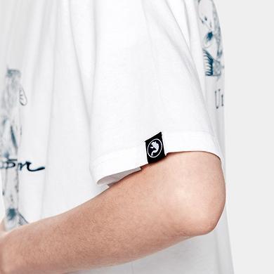 潮牌原创中国风鲤鱼印花文字刺绣男女同款短袖T恤