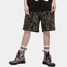 HEA潮牌原创中国风醒狮元素满版印花男女同款短裤