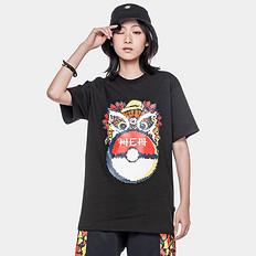 HEA潮牌原创中国风狮子头精灵球印花男女同款短袖T恤