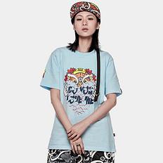 HEA潮牌原创中国风醒狮元素狮子头比心男女同款短袖T恤