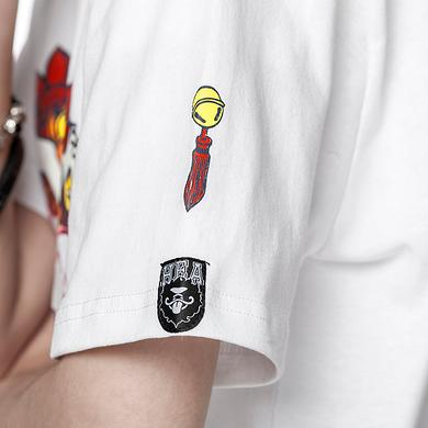 潮牌原创中国风醒狮元素狮子头比心男女同款短袖T恤