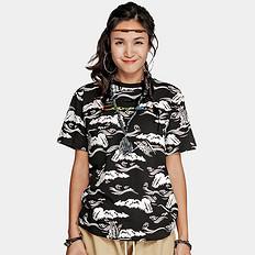 银鳞堂【HOT】潮牌原创中国风满版印花男女同款短袖T恤