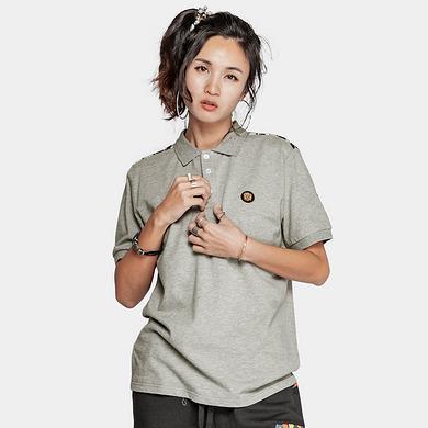 潮牌原创中国风醒狮元素印花男女同款短袖Polo衫