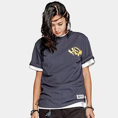 HEA潮牌原创中国风醒狮元素字母印花男女同款短袖T恤