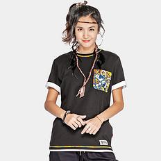 HEA潮牌原创中国风醒狮元素迷彩胸袋男女同款短袖T恤