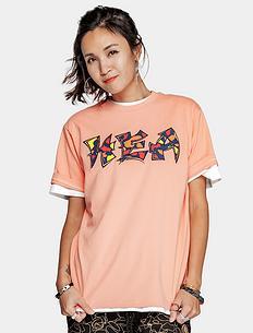潮牌原创醒狮元素迷彩字母印花男女同款短袖T恤