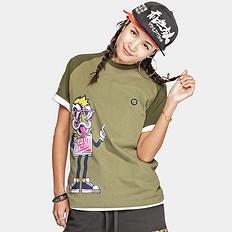 HEA潮牌原创中国风醒狮元素卡通狮子头印花男女同款短袖T恤