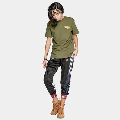潮牌原创中国风醒狮元素胸袋印花男女同款短袖T恤
