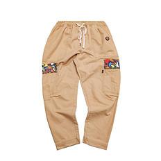 HEA潮牌原创设计醒狮元素多口袋刺绣休闲裤