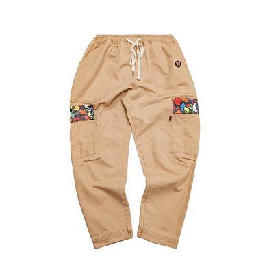 潮牌原创设计醒狮元素多口袋刺绣男女同款休闲裤