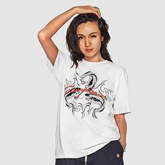 银鳞堂【HOT】潮牌原创中国风印花刺绣男女同款T恤