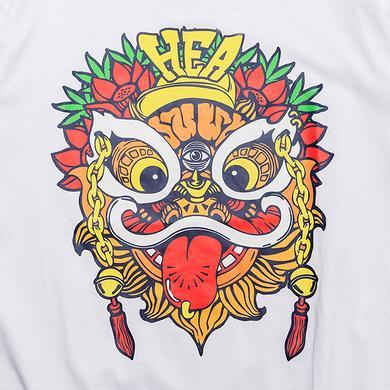 潮牌原创醒狮元素印花男女同款短袖T恤