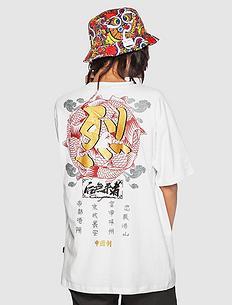 【5折】原创中国风设计刺绣男女同款短袖T恤