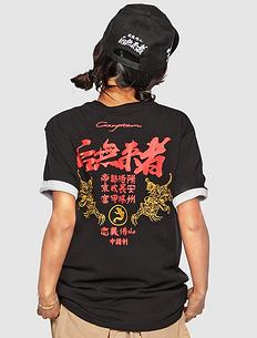 潮牌原创中国风设计刺绣男女同款短袖T恤