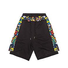HEA原创中国风醒狮元素印花男女同款休闲短裤