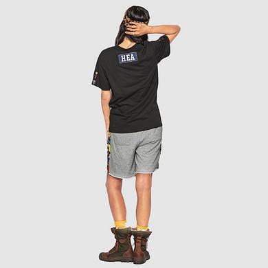 原创中国风醒狮元素印花男女同款休闲短裤