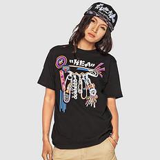 HEA原创潮牌中国风醒狮元素印花男女同款T恤