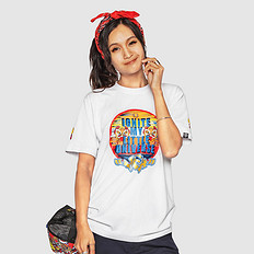 HEA中国风醒狮元素印花男女同款短袖T恤