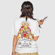 HEA中国风潮男醒狮元素狮子头印花男女同款T恤