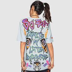HEA原创中国风设计潮流狮子头印花刺绣男女同款短袖T恤