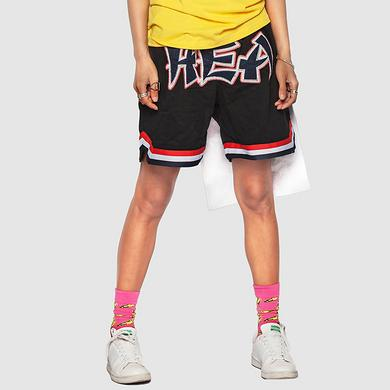 潮牌原创中国风大标设计男女同款休闲短裤