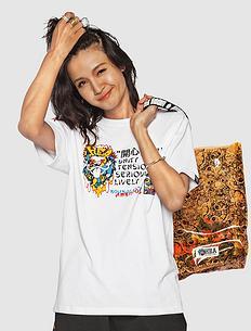 潮牌原创中国风狮子头印花男女同款短袖T恤