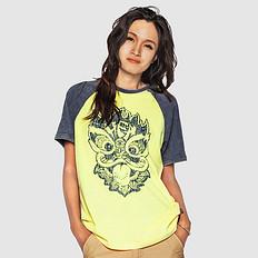HEA本土原创潮牌醒狮元素狮子头做旧男女同款休闲短袖T恤