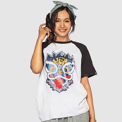 本土潮牌原创设计醒狮元素狮子头男女同款短袖T恤
