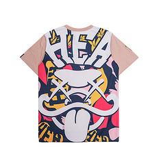 HEA醒狮元素满背迷彩印花短袖T恤