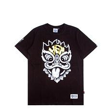 HEA潮牌醒狮元素狮子头印花男女同款短袖T恤