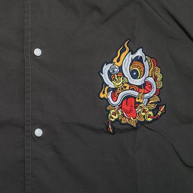潮牌原创中国风醒狮元素男女同款开襟衬衫
