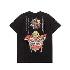 HEA潮牌醒狮元素猪福狮子头印花男女同款短袖T恤