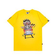 HEA潮牌原创醒狮元素狮子头印花男女同款短袖T恤