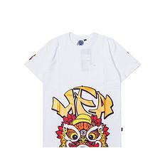 HEA潮牌原创醒狮元素大版狮子头印花男女同款短袖T恤