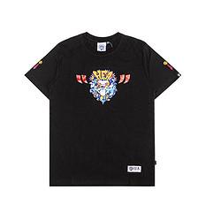 HEA潮牌原创中国风醒狮元素开心简单印花男女同款短袖T恤