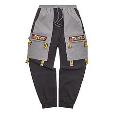 HEA潮牌原创设计醒狮元素撞色拼接男女同款休闲裤