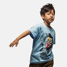 HEA原创设计中国风狮子印花男女童同款亲子短袖T恤