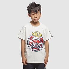 HEA原创设计中国风狮子头印花男女童同款亲子短袖T恤