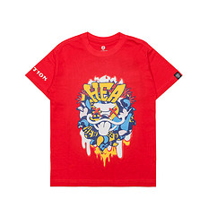 HEA潮牌原创醒狮元素狮子头印花男女同款童装短袖T恤