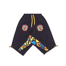 HEA原创设计醒狮元素男女同款撞色休闲短裤