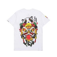 HEA原创设计中国风醒狮元素印花男女童同款短袖T恤