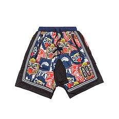 HEA原创设计醒狮元素迷彩男女同款休闲短裤