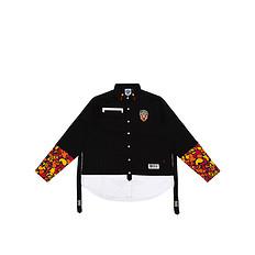 HEA【秋】原创色剂醒狮元素迷彩印花男女同款长袖衬衫